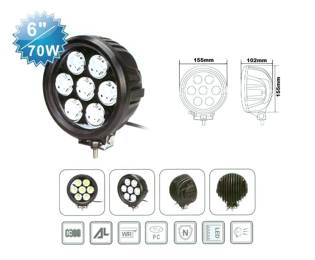 Extraljus CREE LED